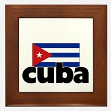 I HEART CUBA FLAG Framed Tile