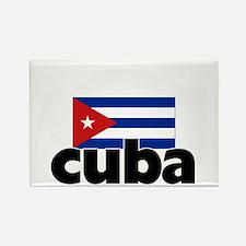 I HEART CUBA FLAG Rectangle Magnet