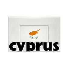 I HEART CYPRUS FLAG Rectangle Magnet