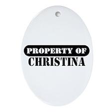 Property of Christina Oval Ornament