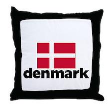 I HEART DENMARK FLAG Throw Pillow