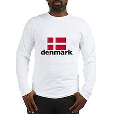 I HEART DENMARK FLAG Long Sleeve T-Shirt