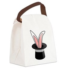 Rabbit In Magician Hat Canvas Lunch Bag