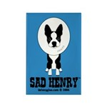 SAD HENRY BOSTON TERRIER DOG Rectangle Magnet