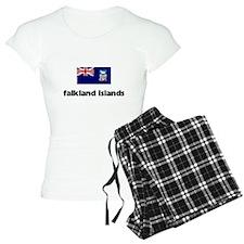 I HEART FALKLAND ISLANDS FLAG Pajamas