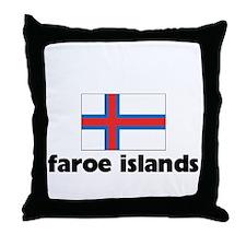 I HEART FAROE ISLANDS FLAG Throw Pillow