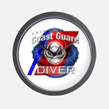 Coast Guard Diver Wall Clock