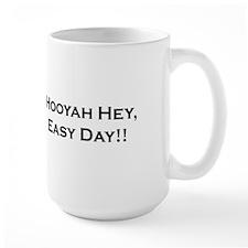 "Coast Guard Diver Mug ""Hooyah Hey, Easy Day!!"""
