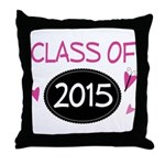 Class of 2015 (butterfly) Throw Pillow