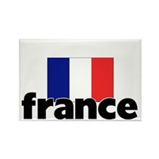 I HEART FRANCE FLAG Rectangle Magnet