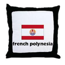 I HEART FRENCH POLYNESIA FLAG Throw Pillow