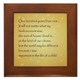 In the life of a child Framed Tiles