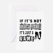 American Football Designs Greeting Card