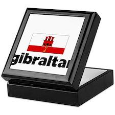 I HEART GIBRALTAR FLAG Keepsake Box