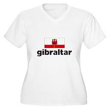 I HEART GIBRALTAR FLAG Plus Size T-Shirt