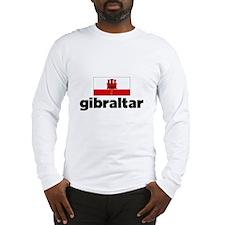 I HEART GIBRALTAR FLAG Long Sleeve T-Shirt