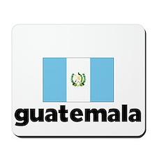 I HEART GUATEMALA FLAG Mousepad