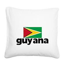 I HEART GUYANA FLAG Square Canvas Pillow
