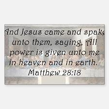 Matthew 28:18 Decal
