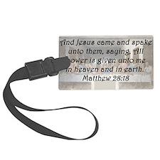 Matthew 28:18 Luggage Tag