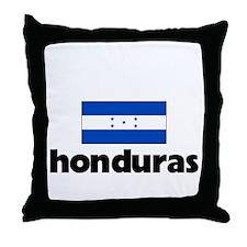 I HEART HONDURAS FLAG Throw Pillow