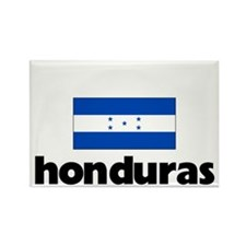 I HEART HONDURAS FLAG Rectangle Magnet