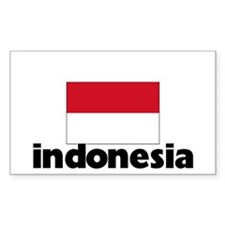 I HEART INDONESIA FLAG Decal