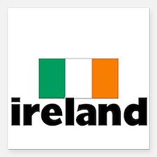 "I HEART IRELAND FLAG Square Car Magnet 3"" x 3"""