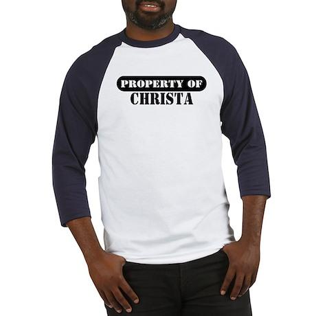 Property of Christa Baseball Jersey