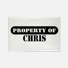 Property of Chris Rectangle Magnet