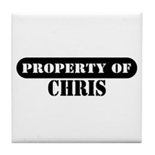 Property of Chris Tile Coaster