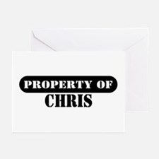 Property of Chris Greeting Cards (Pk of 10)