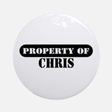 Property of Chris Ornament (Round)
