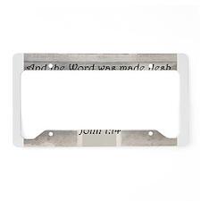 John 1:14 License Plate Holder