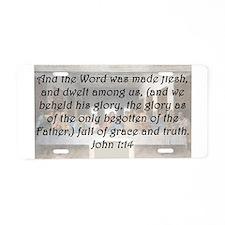 John 1:14 Aluminum License Plate