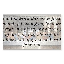 John 1:14 Decal