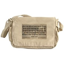 John 1:14 Messenger Bag