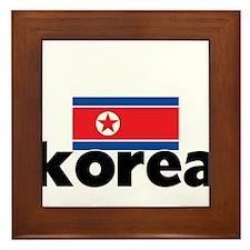 I HEART KOREA FLAG Framed Tile