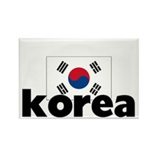 I HEART KOREA FLAG Rectangle Magnet