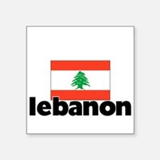 I HEART LEBANON FLAG Sticker