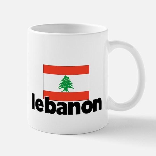 I HEART LEBANON FLAG Mug