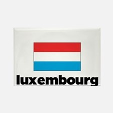 I HEART LUXEMBOURG FLAG Rectangle Magnet