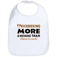Kick boxing awesome designs Bib