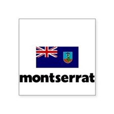 I HEART MONTSERRAT FLAG Sticker
