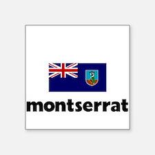 I HEART MONTSERRAT FLAG Sticker