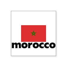I HEART MOROCCO FLAG Sticker