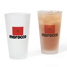 I HEART MOROCCO FLAG Drinking Glass
