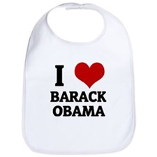 I Love Barack Obama Bib