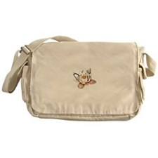 White Lotus Messenger Bag
