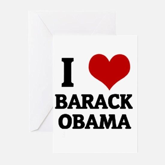 I Love Barack Obama Greeting Cards (Pk of 10)